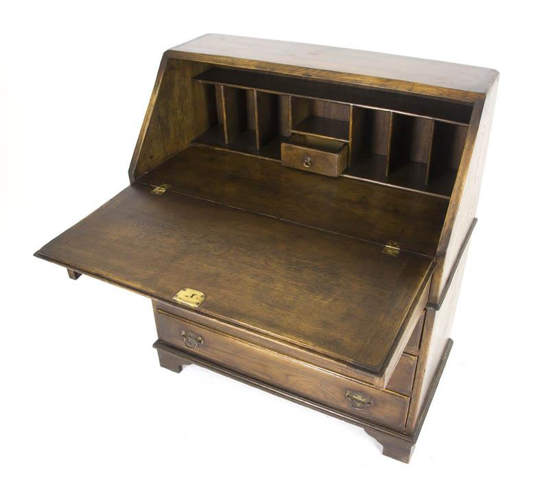 antique drop front desk - Antique Desk, Antique Drop Front Desk, Secretary Desk, Scotland, B706