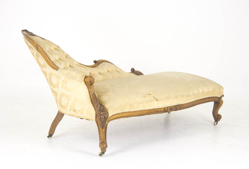 antique chaise lounge - Antique Chaise Lounge, Victorian Settee, Walnut, Scotland 1860, B917