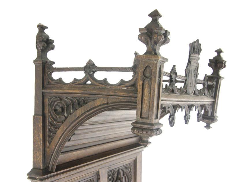 Gothic Cabinet - Ornate Gothic Cabinet, Antique Cabinet, Argenterie Cabinet, 1880, B1123