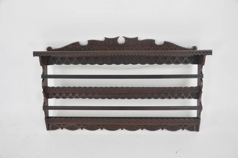 antique plate rack & Antique Plate Rack Solid Walnut Victorian Hanging Shelf1880 B988A
