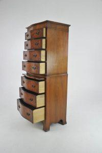 walnut highboy dresser