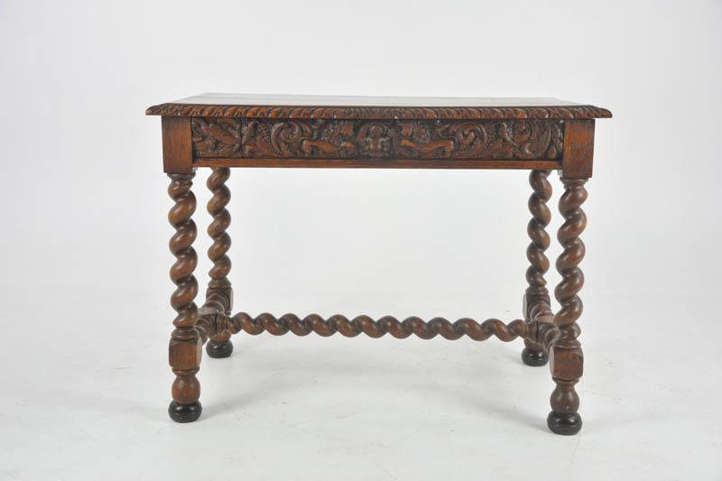 - Antique Writing Table, Antique Oak Desk, Victorian, Scotland 1870, B1050