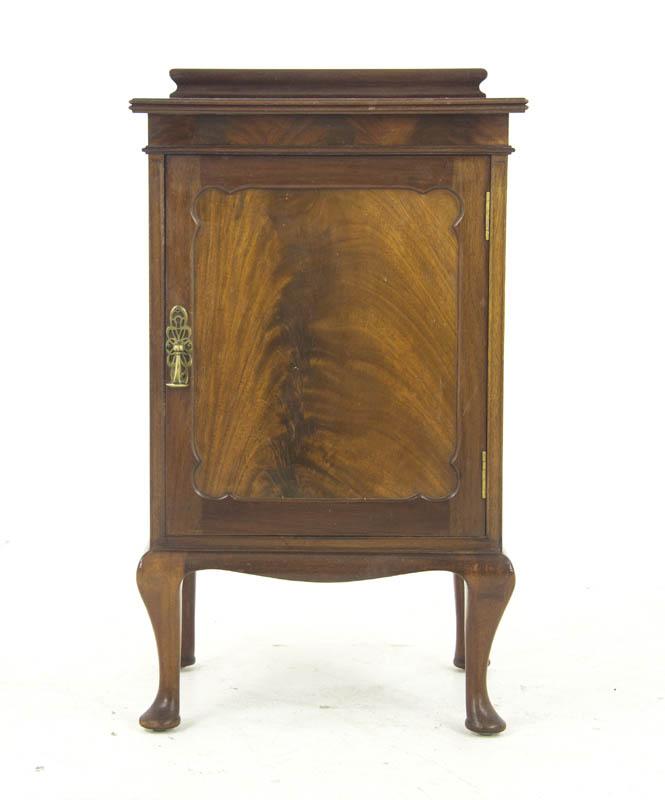 vintage nightstand - Vintage Nightstand, Mahogany, Bedside Table, Scotland 1920, B1064