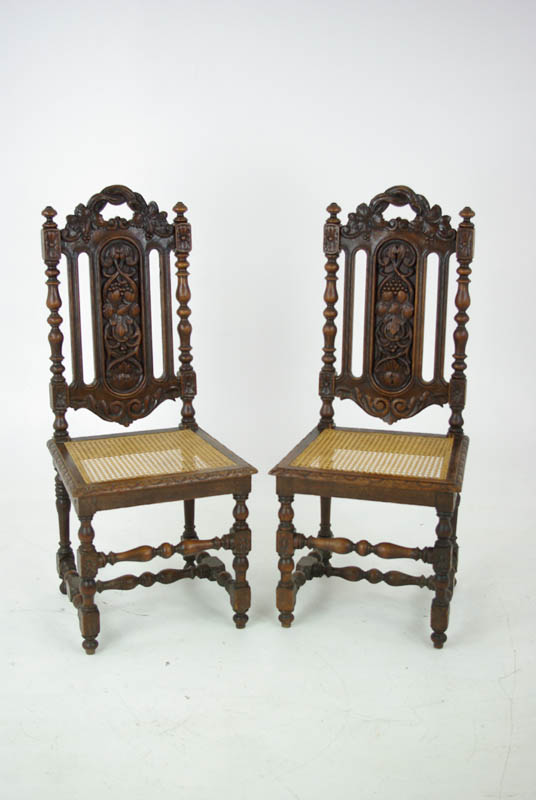 dining chairs - Dining Chairs, Antique Side Chairs, Jacobean, Scotland 1880, B1037