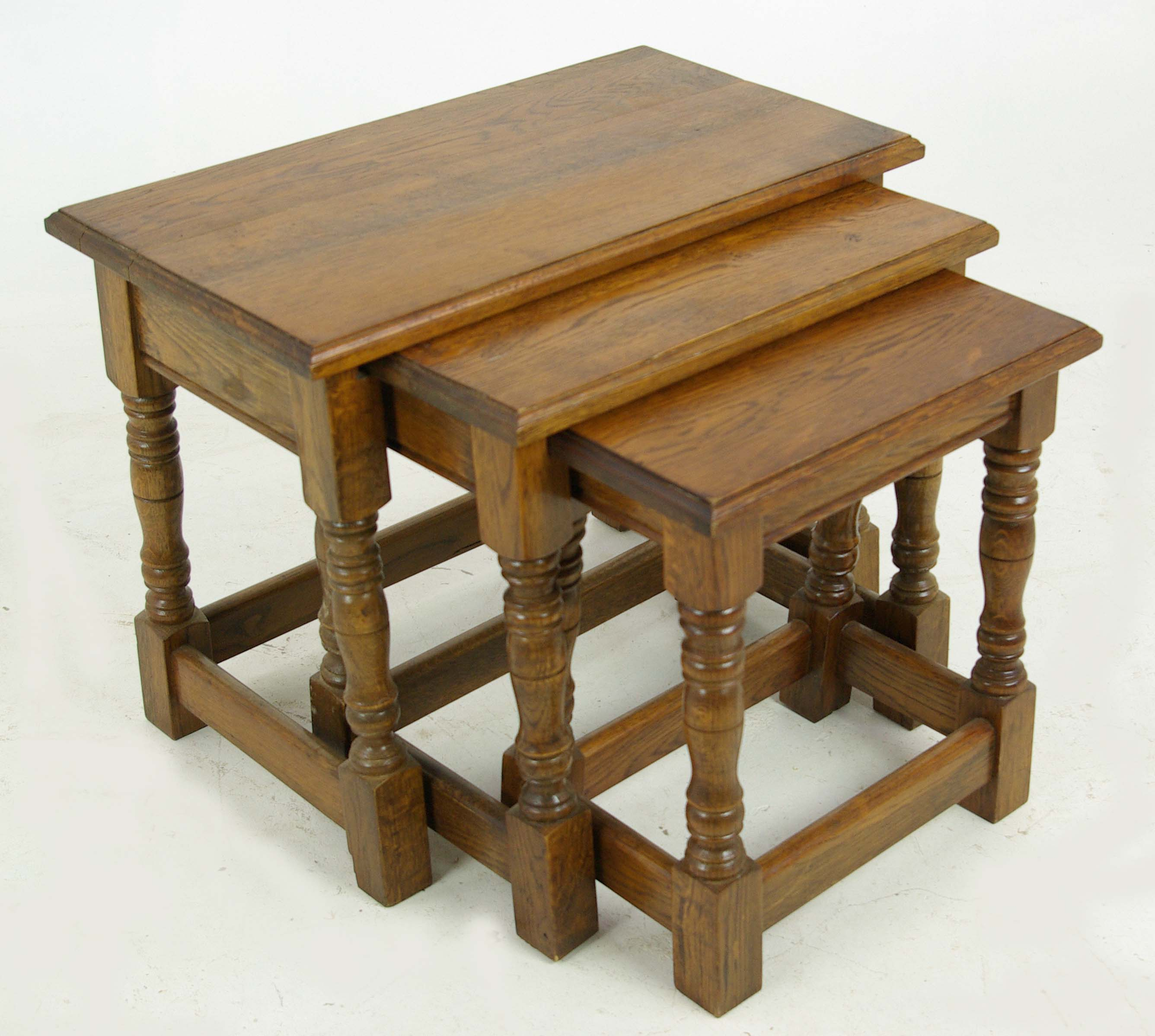 Beau Side Tables, Nesting Tables, Antique Occasional Tables, Antique Furniture,  Scotland 1950s, B982