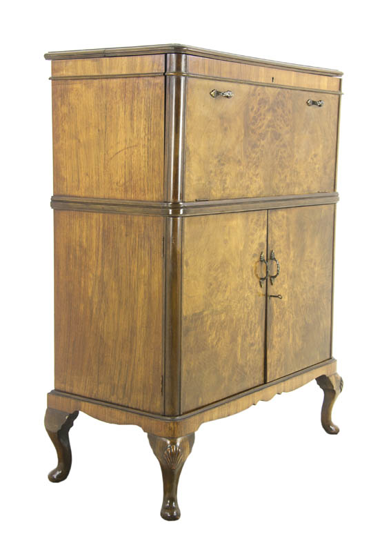 Drinks Cabinet - Drinks Cabinet, Antique Dry Bar, Cocktail Cabinet, Scotland, 1930, B1113