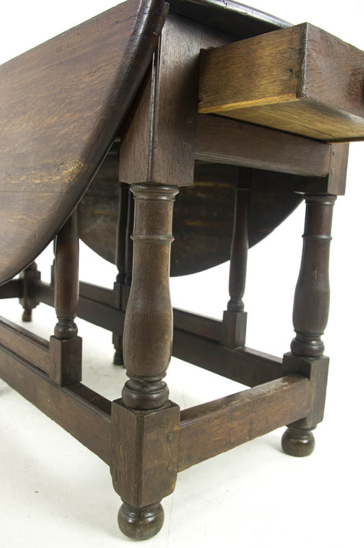 Antique Gateleg Table Oak Drop Leaf Table Scotland 1800