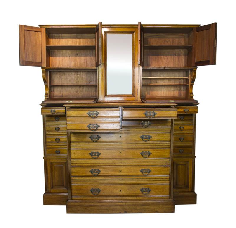 Antique Apothecary Cabinet - Antique Apothecary Cabinet, Antique Dentist Cabinet, Solid Walnut, B1061