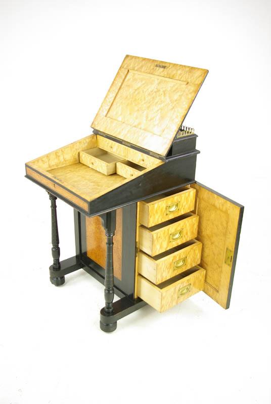 Antique Davenport Desk - Antique Davenport Desk, Victorian,Aesthetic Movement, 1880,B987