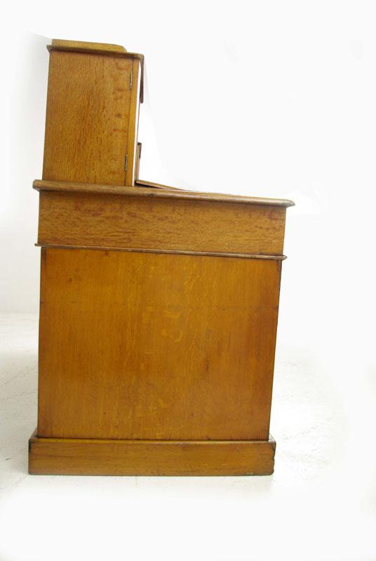 dickens desk - Dickens Desk, Antique Oak Desk, Slant Front Desk, England 1880, B994