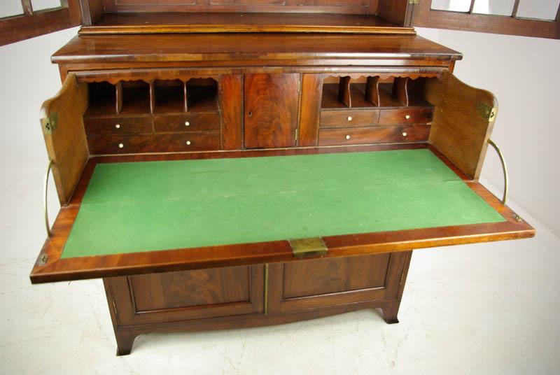 Antique Mahogany Secretary ... - Antique Mahogany Secretary Bookcase, George III Desk, 1810, B1137