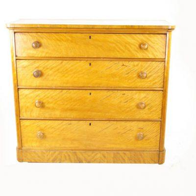 antique birch dresser