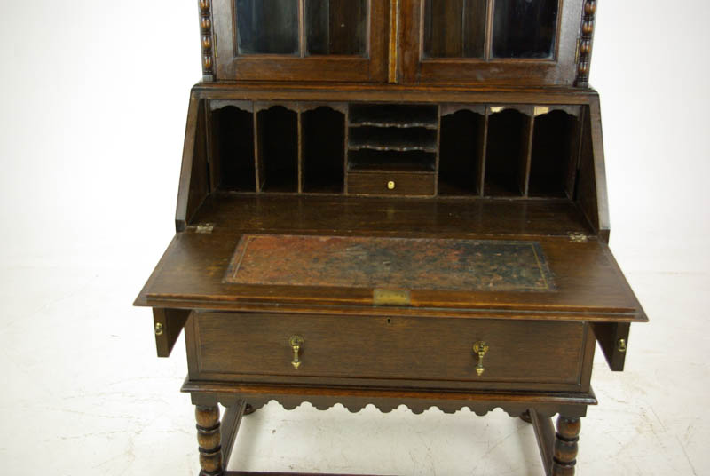 antique oak secretary desk - Antique Secretary Desk, Antique Fall Front, Oak Bookcase, 1920, B1091