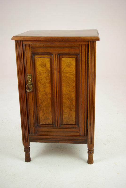 antique walnut nightstand - Antique Walnut Nightstand, Antique Nightstand,Scotland 1880, B1319