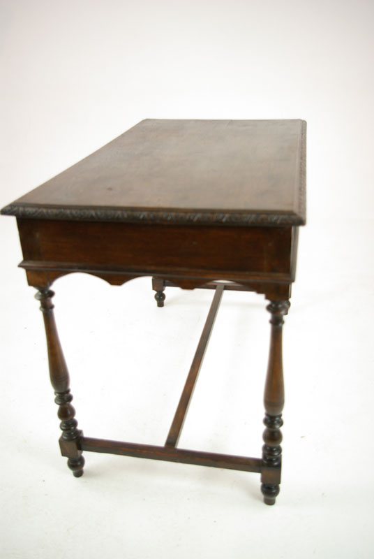 carved oak desk - Carved Oak Desk, Antique Writing Desk, Antique Desk, Scotland 1880