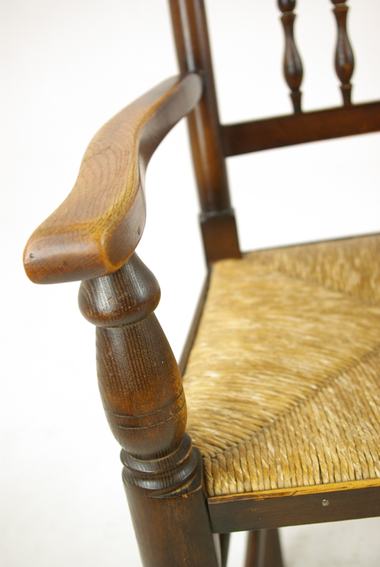 Antique Cane Seating - Antique Dining Chairs, Country Rush Chairs, 6+2 Chairs,1900, B1252