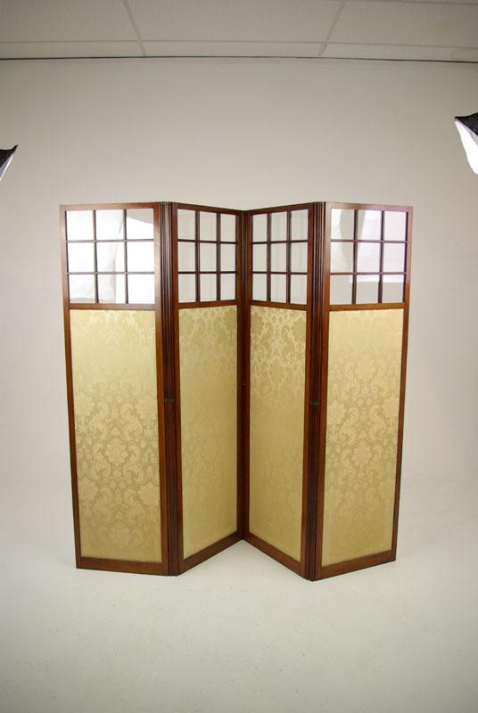 Mahogany Folding Screen Privacy Screen 1890 Antique Furniture B1266