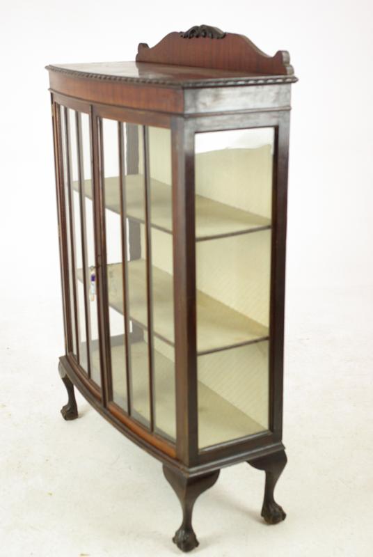 antique curio cabinet - Antique Curio Cabinet, Scotland 1930, Antique Furniture, B1179