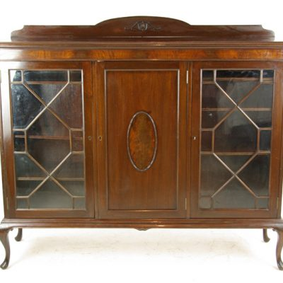 antique walnut bookcase
