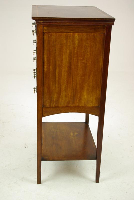 Antique Music Stand - Sheet Music Cabinet, Storage, Walnut Cabinet, Antique Furniture, B1268