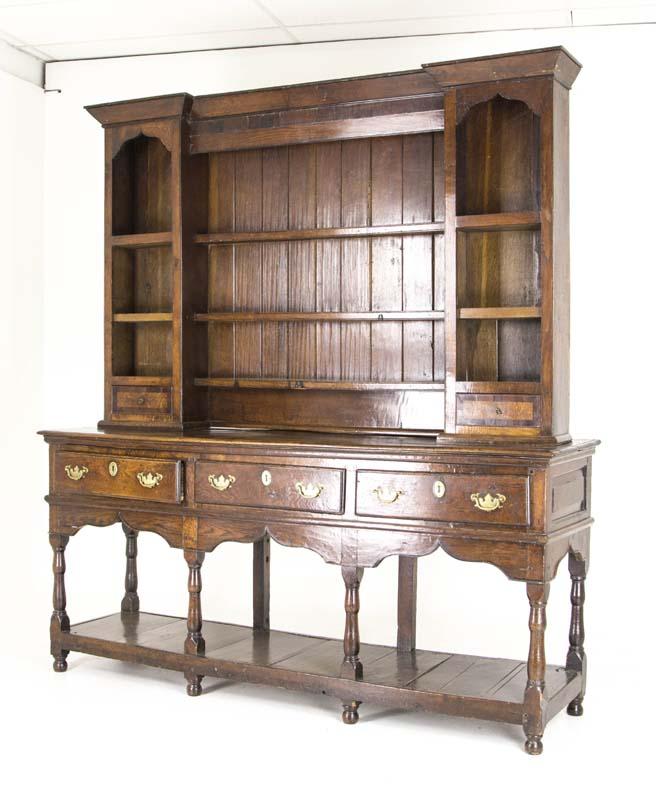 Antique China Hutch >> Antique China Hutch Welsh Dresser Plate Rack England 18th Century B815