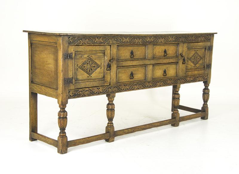 Antique Sideboard Carved Oak Chiffonier Tudor Buffet B834