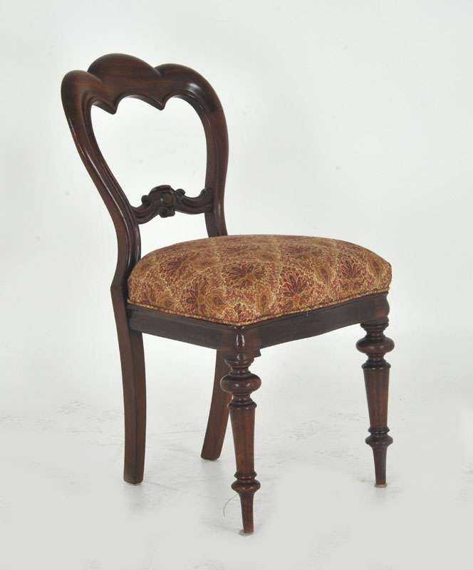 Wonderful Dining Room Benches With Backs: Balloon Back Dining Chairs, Antique Chairs, Six Walnut