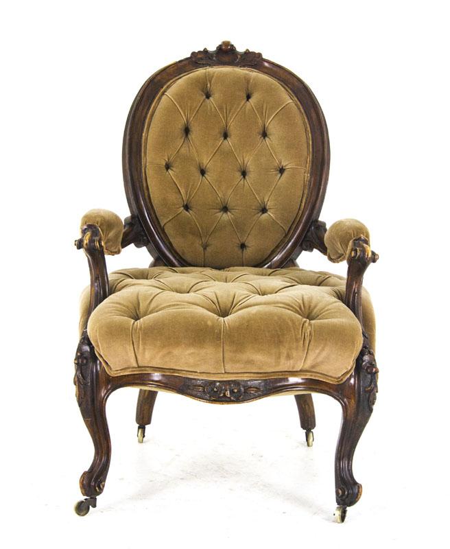 Antique Gentlemans Chair, Walnut Chair, Victorian Chair