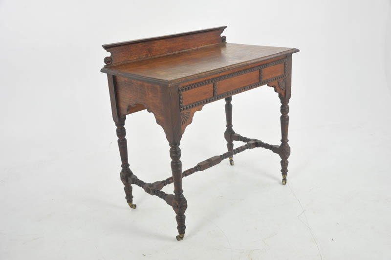 Antique Hall Table Edwardian Table Tiger Oak Table Antique Furniture Scotland 1910 B1051