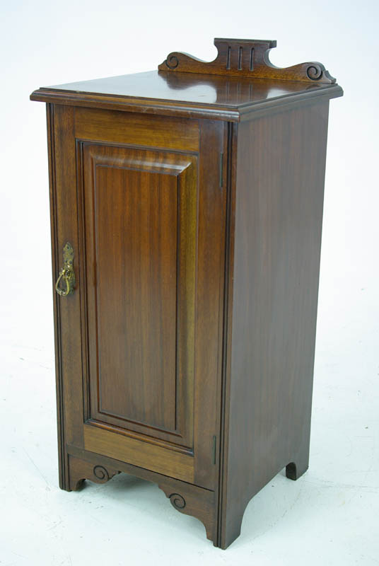 Old Bedside Table: Antique Nightstand, Mahogany Bedside Table, Scotland 1880