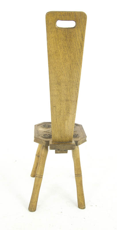 Spinning Chair Antique Chair Carved Oak Chair Scotland 1900 B1103