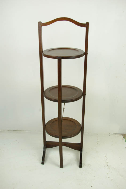 Antique Cake Stand Mahogany Plant Stand 3 Tier Stand 1930 B1056
