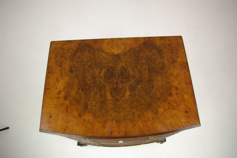 Petite Antique Dresser Walnut Dresser Bow Front