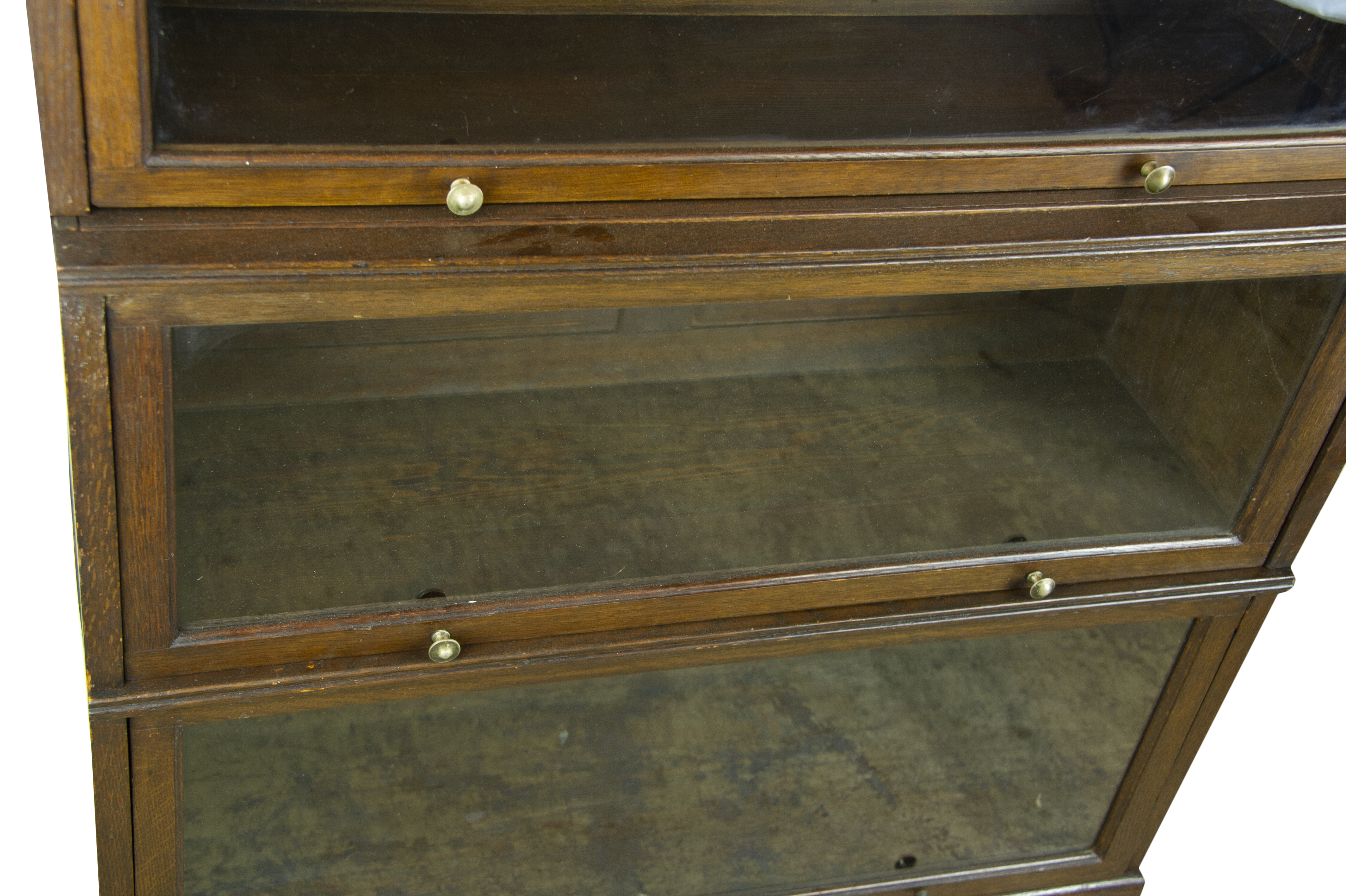 Lawyers Bookcase Oak Bookcase Barristers Bookcase 5 Section Bookcase Scotland 1920 Antique Furniture B1273